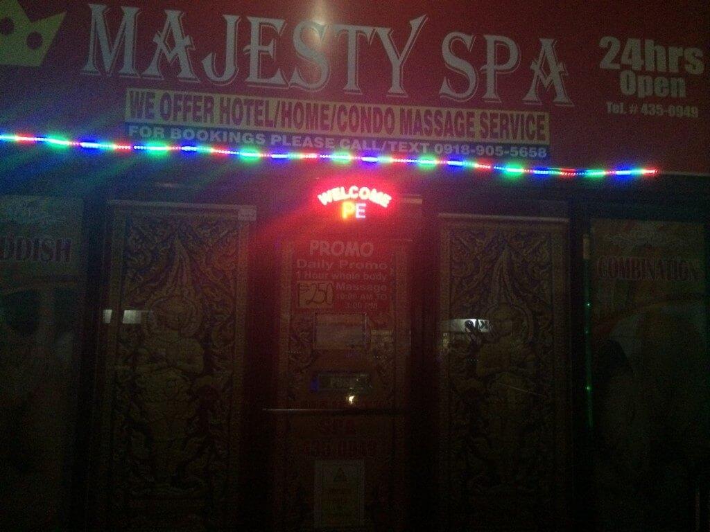 バコロドの夜遊びでエロマッサージのマジェスティ スパ(MAJESTY SPA)の場所や行き方、料金に内容は?